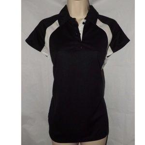 NEW Black Medium 8 / 10 Athletic Polo Shirt GURU